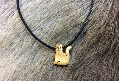 Rubberband necklace Cat