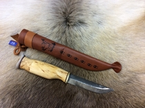 Carving knife with reindeer horn hat - 23VS 9,5