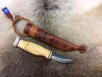 Carving knife with reindeer horn hat - 23VSP