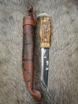 Knife with picture of bear